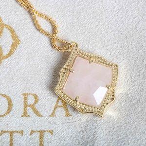 kendra scott kacey gold necklace Pink quartz New